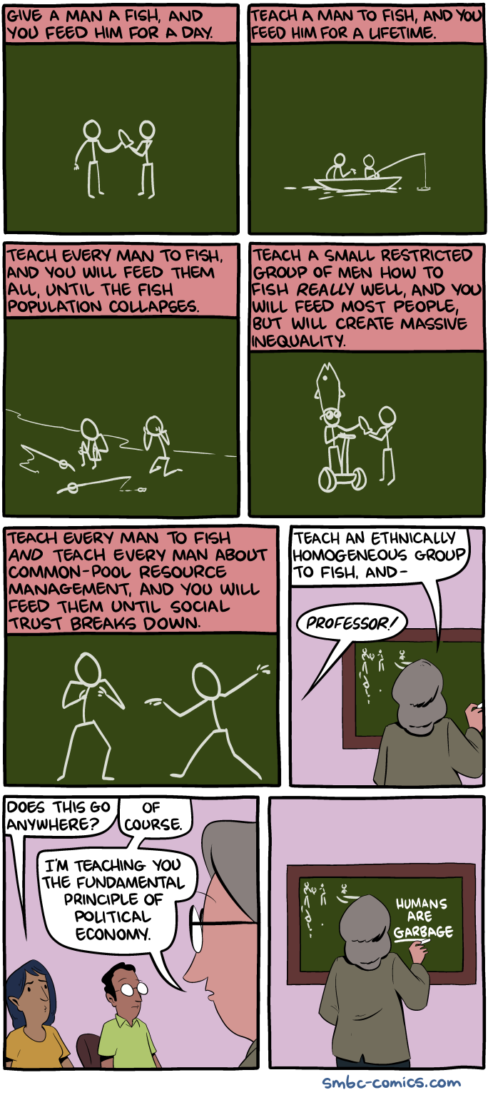 Saturday Morning Breakfast Cereal - Teach a Man to Fish