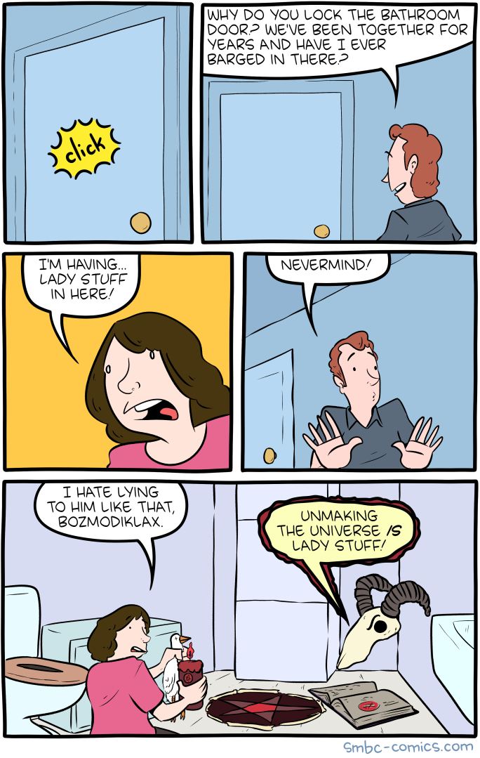 Saturday Morning Breakfast Cereal Lady Stuff
