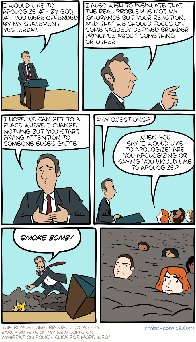 Saturday Morning Breakfast Cereal - Apology