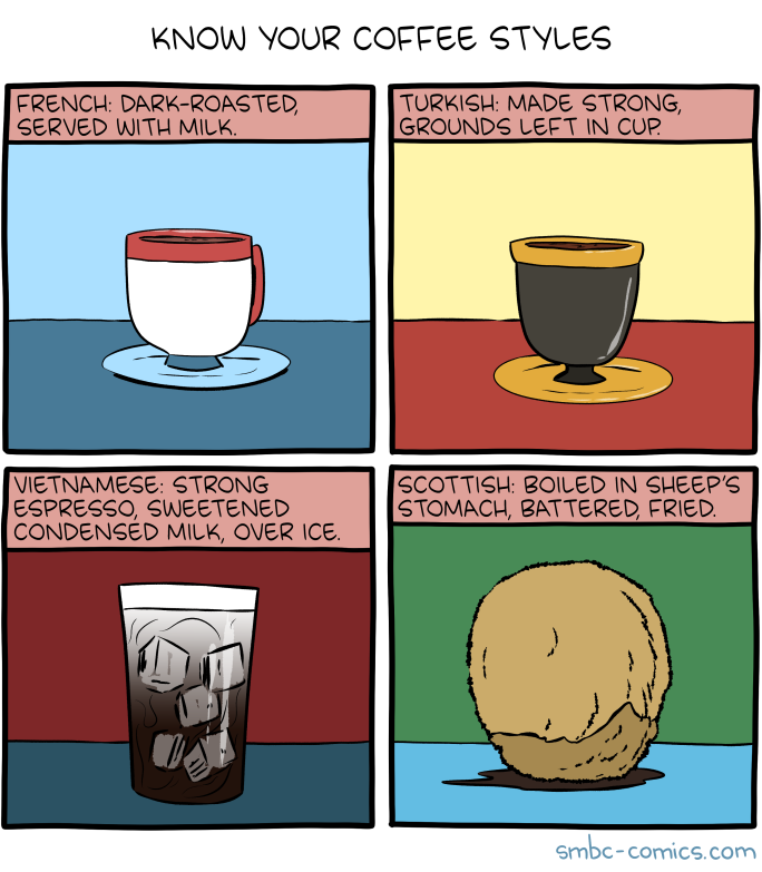 smbc comic with different coffee styles.