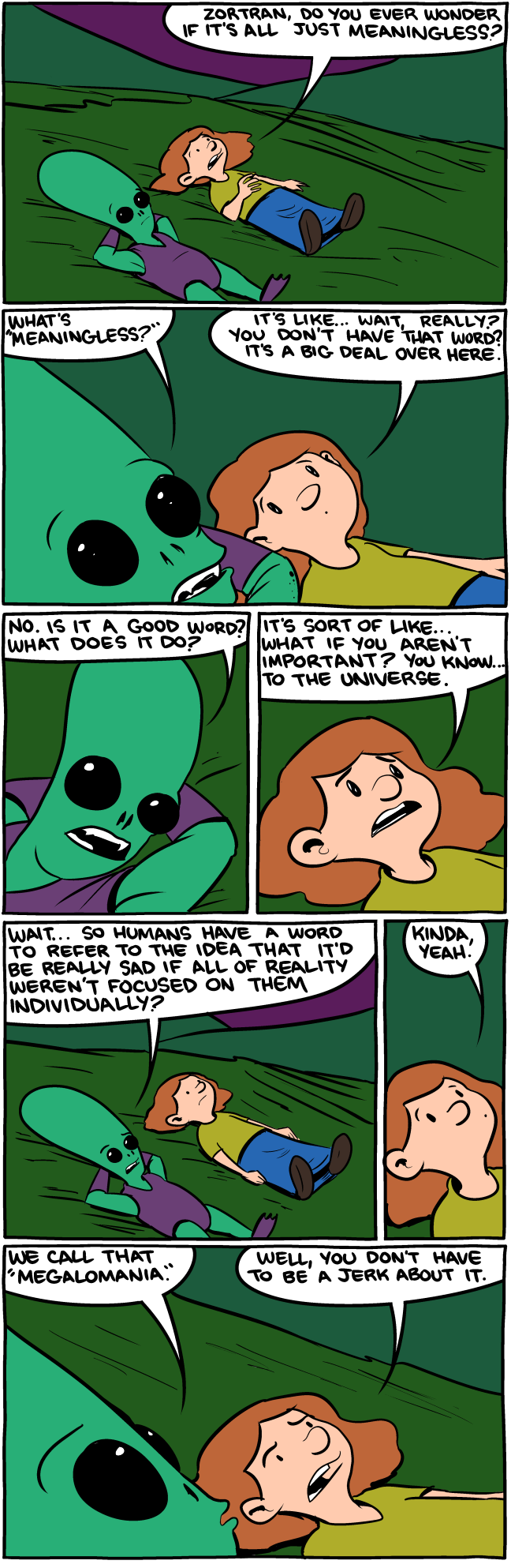 Meaningless Megalomania - SMBC Comics